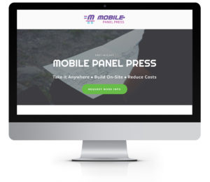 Mobile Panel Press Landing Page Built on Squarespace