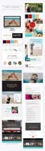 Graphic Design, Brand Design, Brand Identity, WordPress Website Design for Health & Wellness Coach J Muenz of Fearful to Fit, by Ember & Co Design Studio