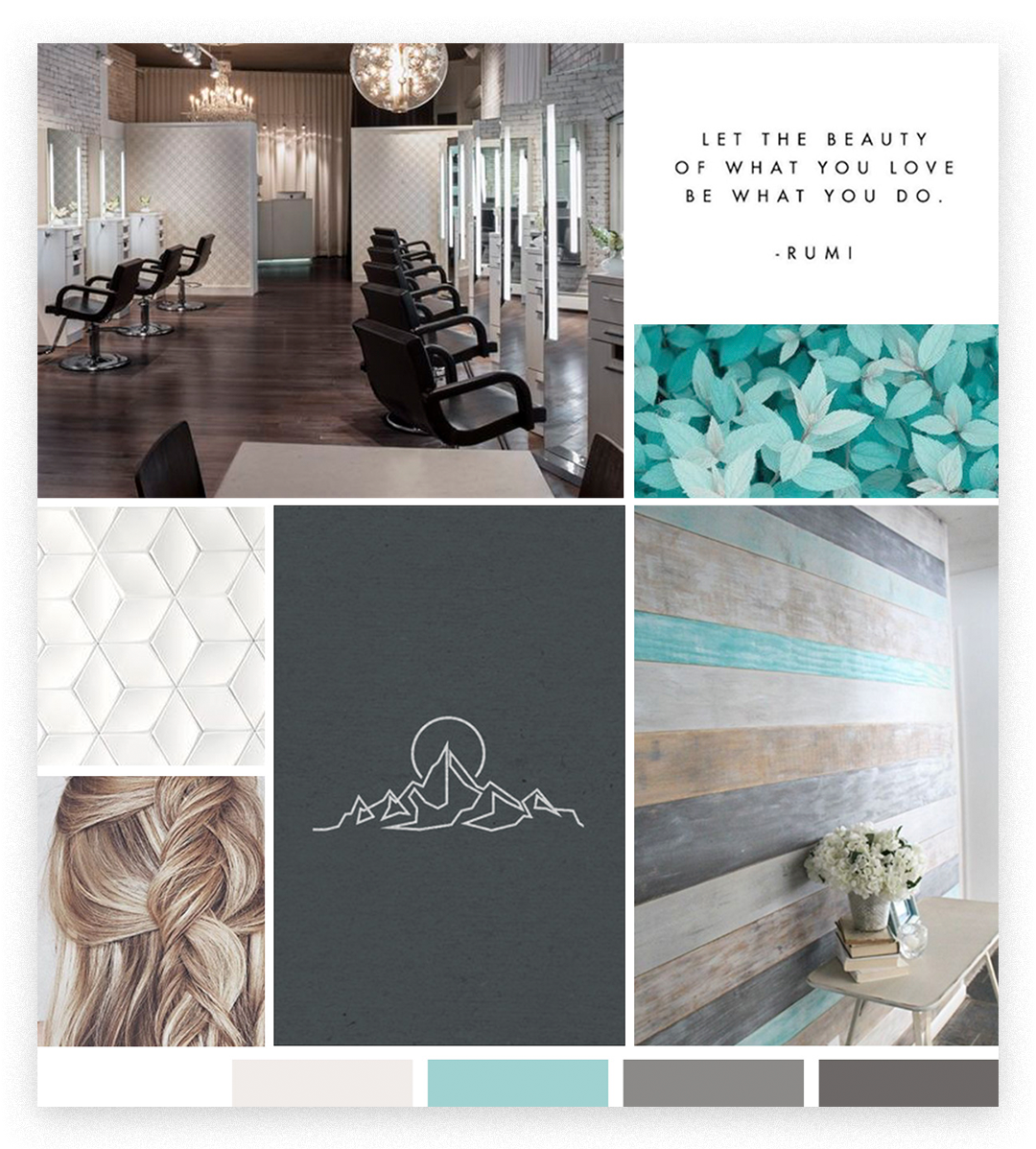 Elevation Hair Co Inspiration Board by Ember & Co Design Studio