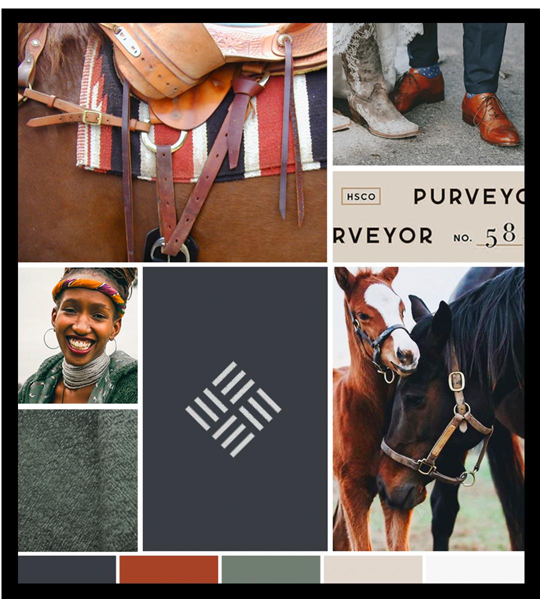 Inspiration Board for Sukwa Saddle Blankets by Ember & Co Design Studio