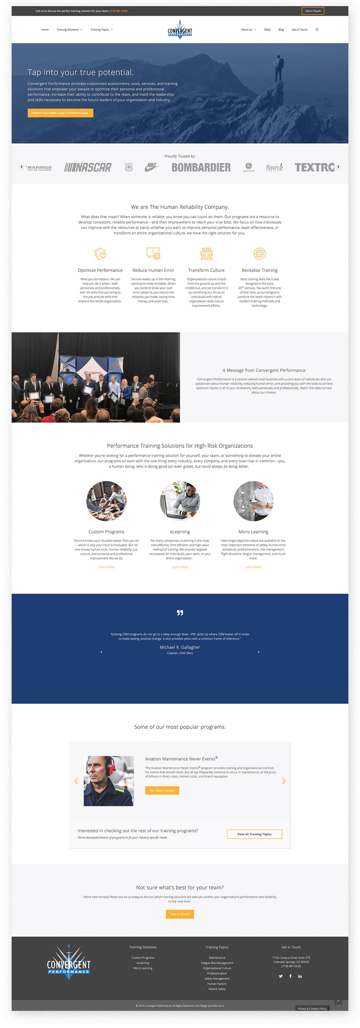 Convergent Performance WordPress Website