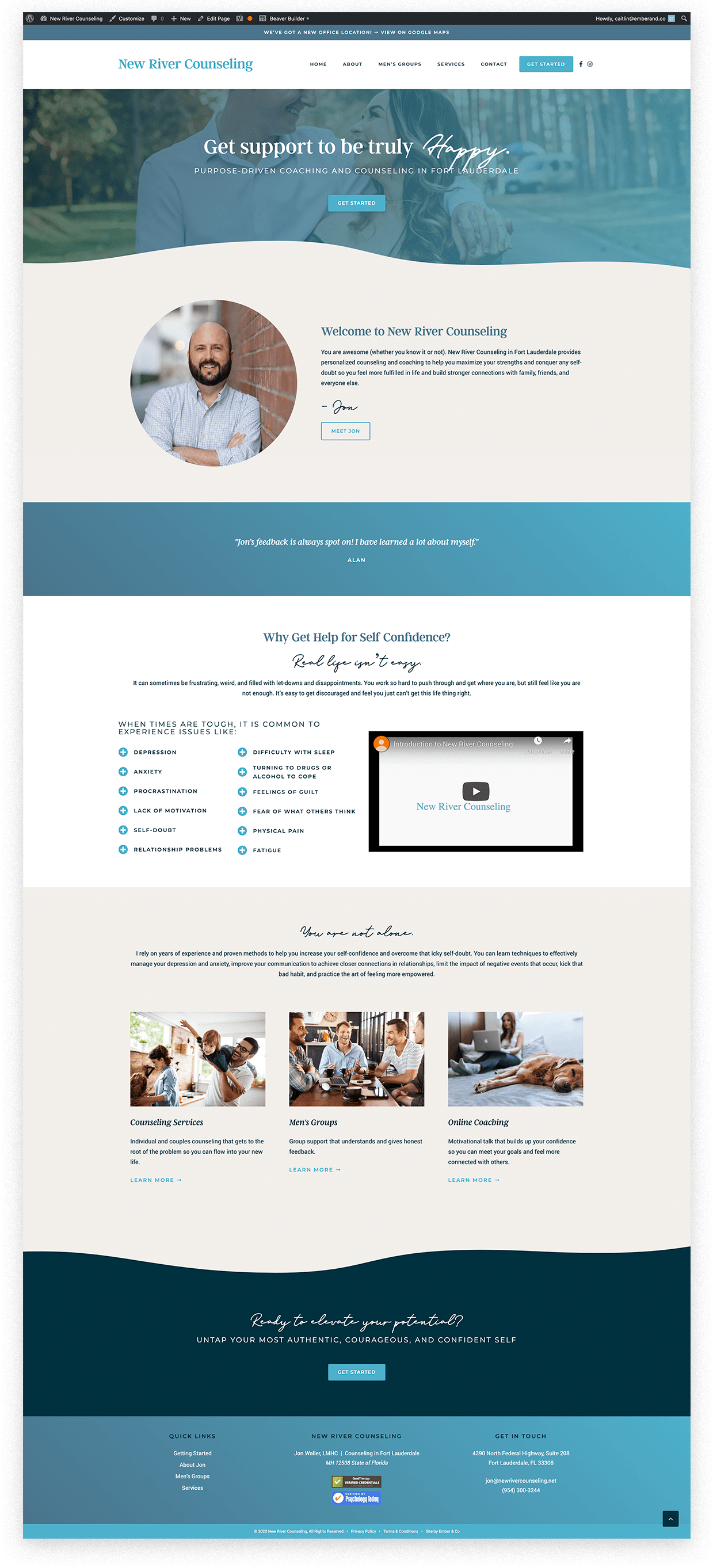 New River Counseling WordPress Website