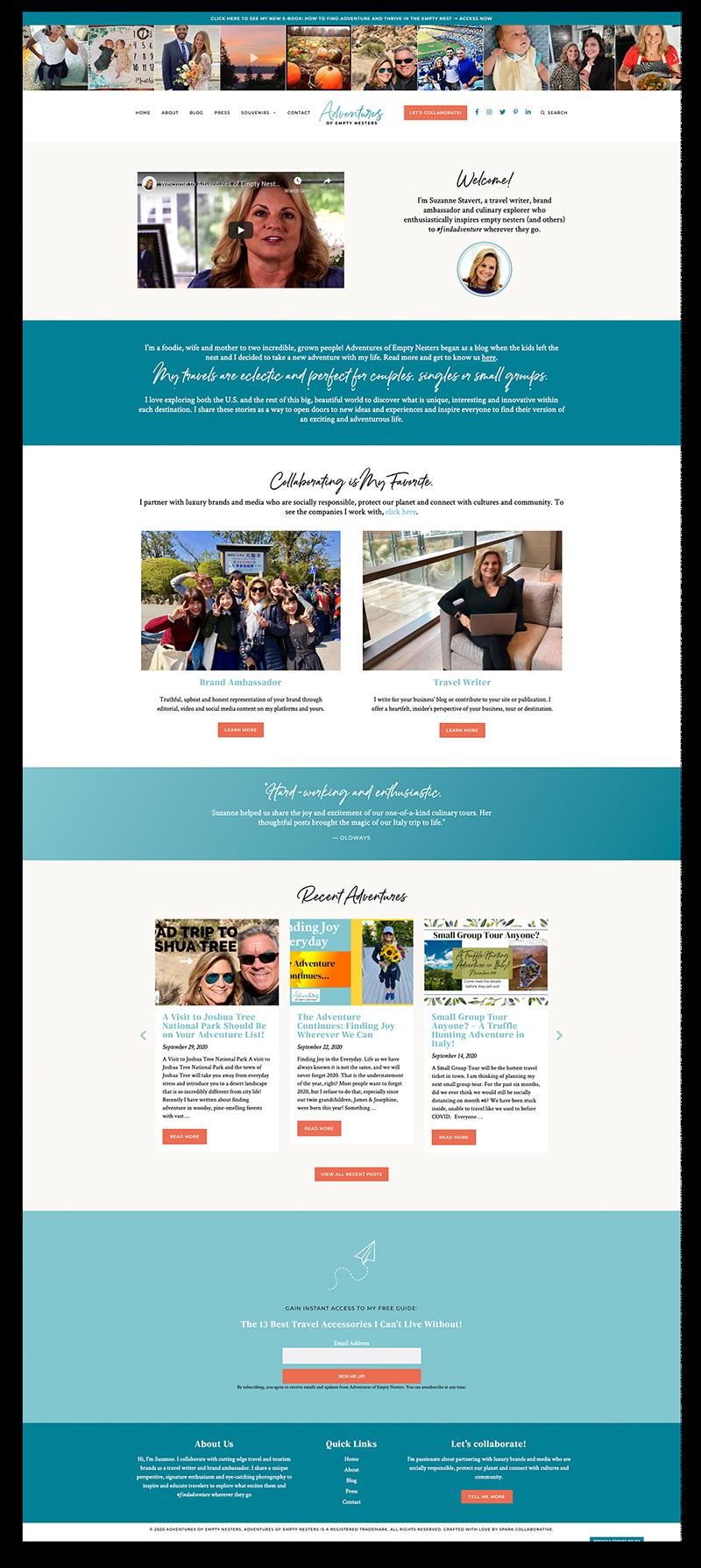 Adventures of Empty Nesters WordPress Website (Collaboration)