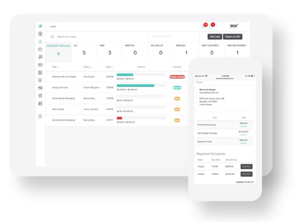 Dubsado Client Management Software: Both Desktop and Mobile Friendly!