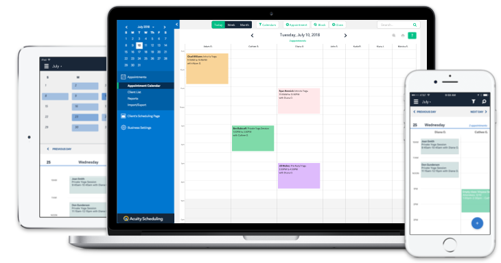My favorite appointment scheduling app: Acuity