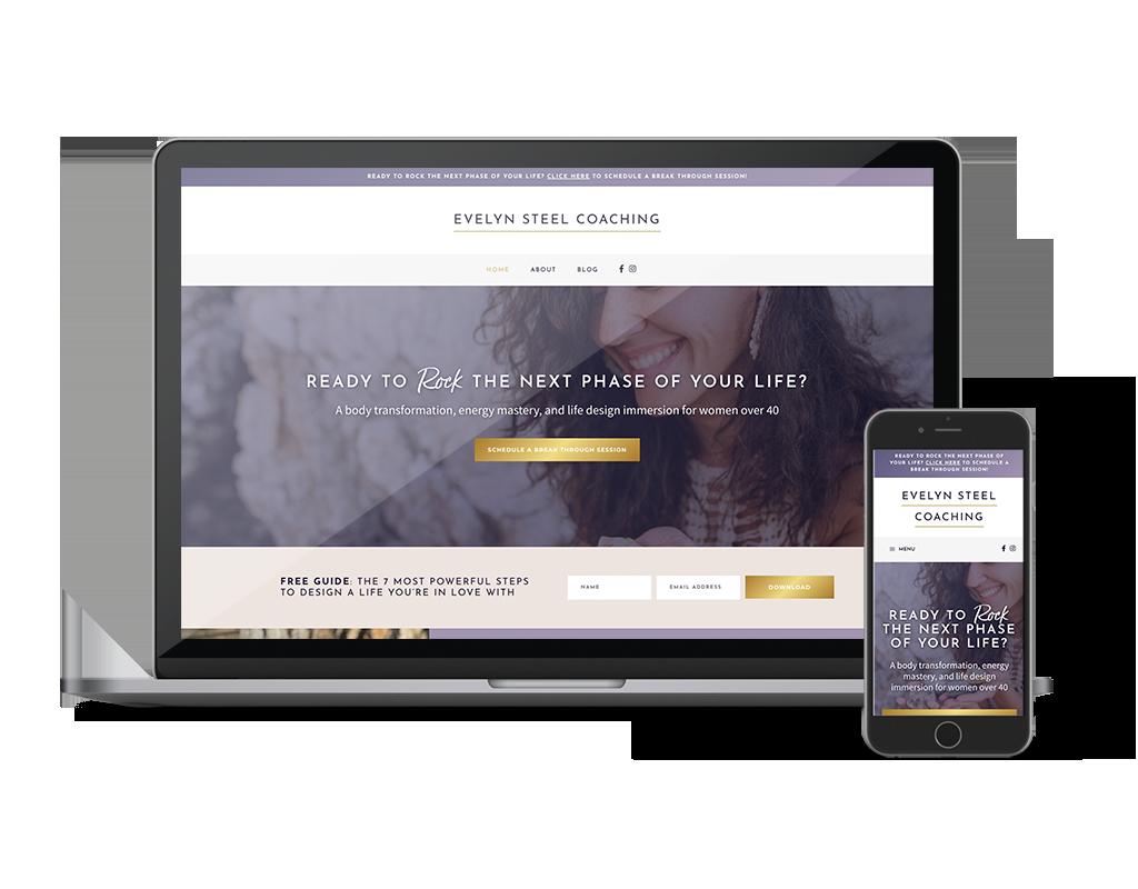Evelyn Steel Coaching WordPress Website Design by Ember & Co Design Studio