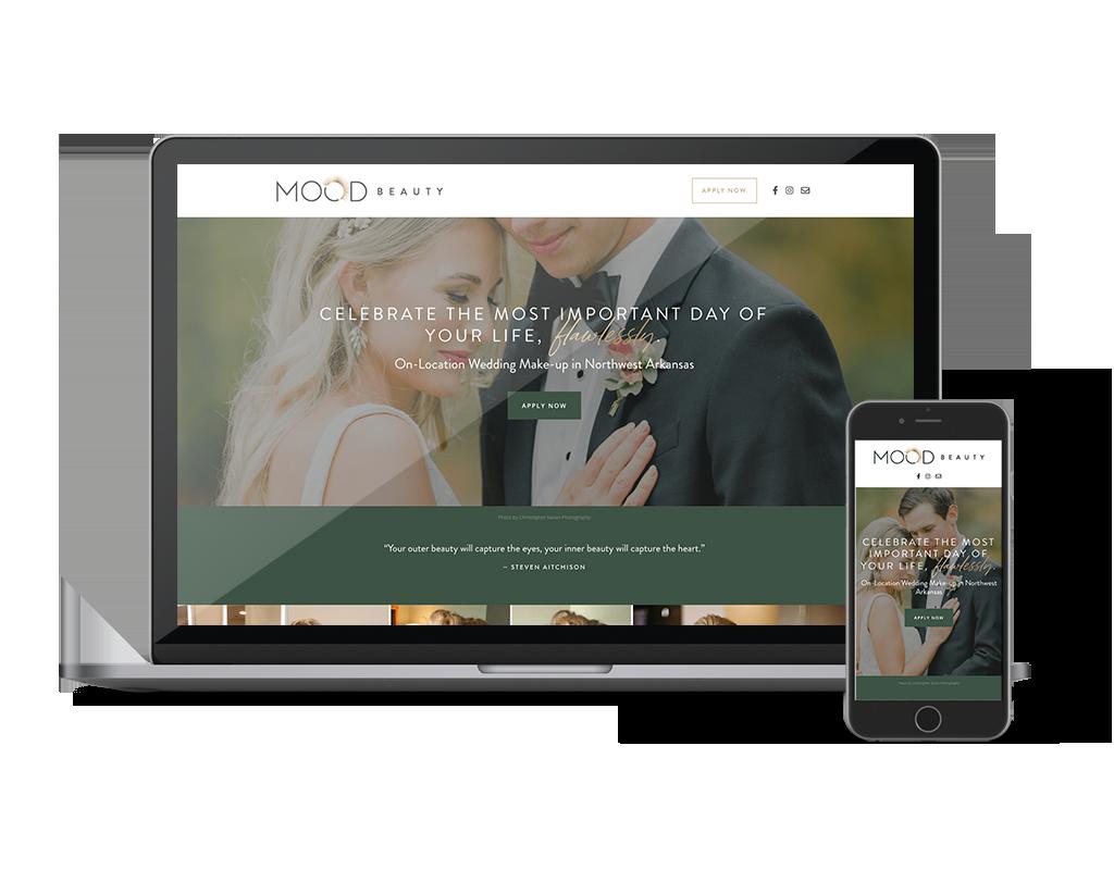 MOOD Beauty WordPress Website Design by Ember & Co Design Studio
